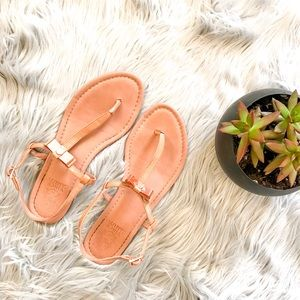 Vince Camuto Rose Gold Leather Sandals